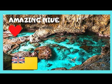 ISLAND of NIUE: Views of the PACIFIC OCEAN from inside PALAHA CAVE