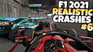 F1 2021 REALISTIC CRASHES #6