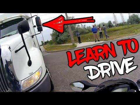 STUPID TRUCK DRIVER..mini  road rage