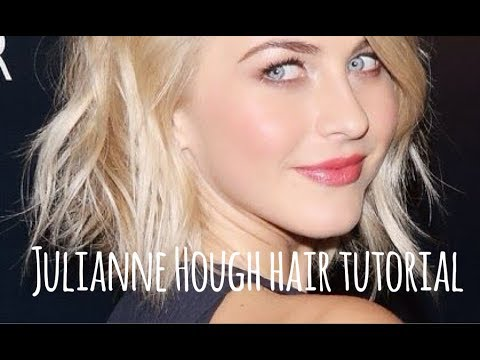 julianne hough short hair tutorial