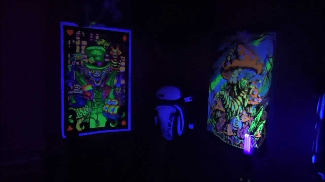 My Super Trippy Blacklight Room - YouTube