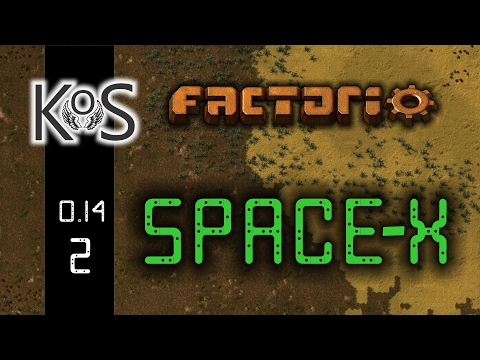 Factorio 0.14 Space-X Mod, Ep 2: Nanobots... Almost - Let's Play, Gameplay