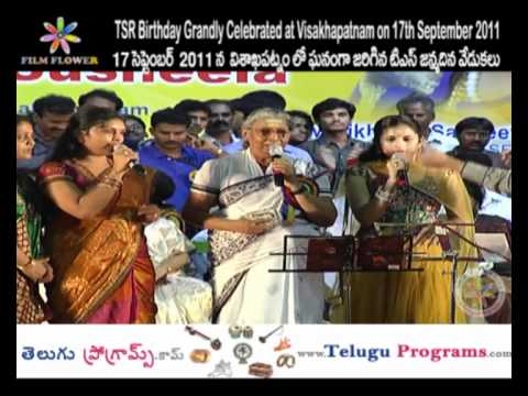 Sing a Song in TSR Birthday Grandly Celebrations at Visakhapatnam Video 8