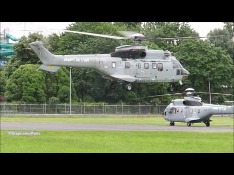 The French President and the French defense minister, took the helicopter.