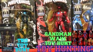 Toy Hunting POWER RANGER LEGACY MOVIE FIGURES, SANDMAN WAVE Marvel Legends, TRU Evolution of GROOT