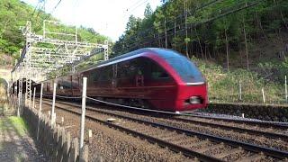 近鉄特急80000系ひのとり 出発・到着・通過 Kintetsu Limited Express 80000 series HINOTORI departure, arrival, passing