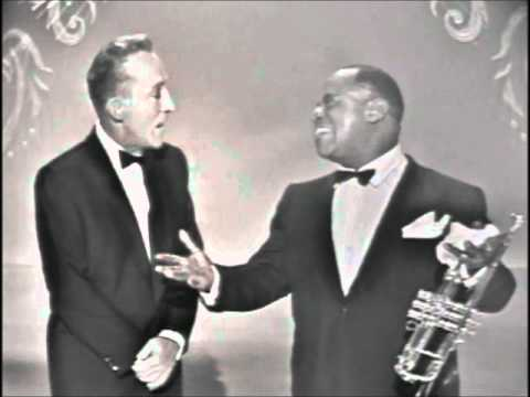 "Bing Crosby & Louis Armstrong - ""Basin Street Blues"" & ""Lazy Bones"""