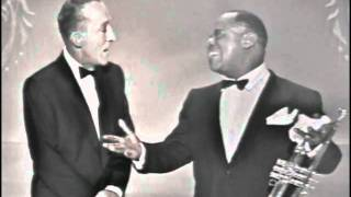 "Bing Crosby & Louis Armstrong - ""Basin Street Blues"" & ""Lazy Bones"""