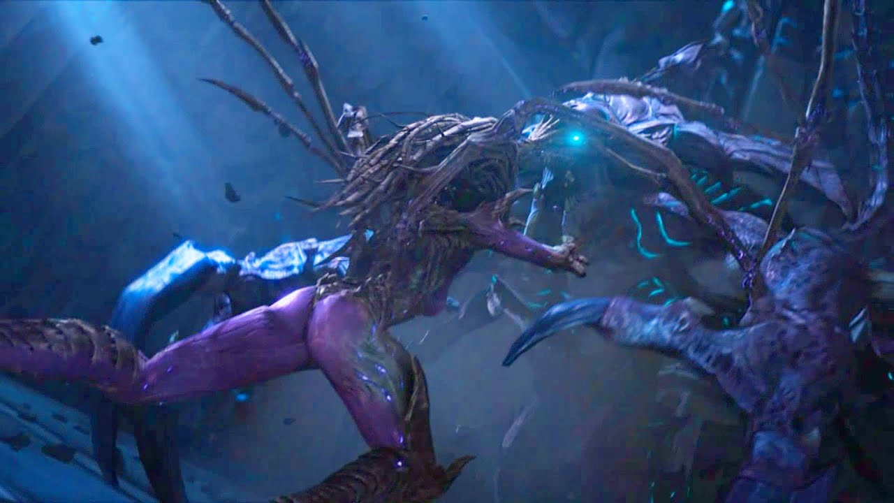 Kerrigan And Artanis Fight With Hybrid Starcraft 2 Protoss Unlikely Allies In Ulnar Temple