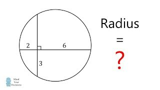 How To Solve For The Radius. Challenging 1970s Math Contest!