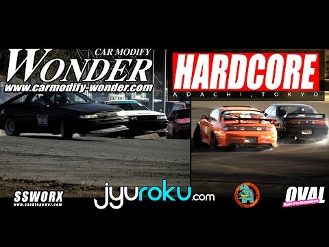 CAR MODIFY WONDER X HARDCORE Drift Event | Nikko Circuit - JyuRoku