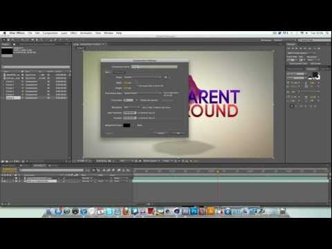 After Effects: Transparent Background Tutorial - Quick Tip