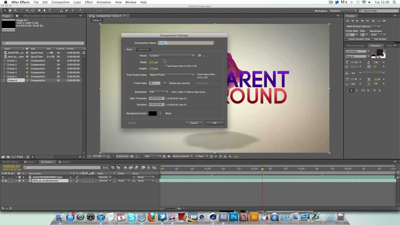 Background image opacity without affecting text - After Effects Transparent Background Tutorial Quick Tip