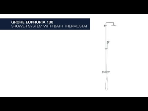 GROHE Euphoria 180 shower system with thermostat - YouTube