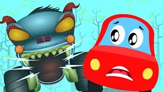 Download Monster Island | Little Red Car| HHMT | Haunted House monster truck | Video for children Mp3 and Videos