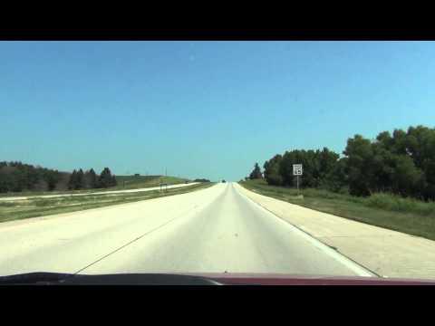 Car Camera - U.S. 77 & NE-L55X - Lincoln to Ceresco, NE . 2013 ( アメリカ国道77号線とネブラスカ州道L55X線 )