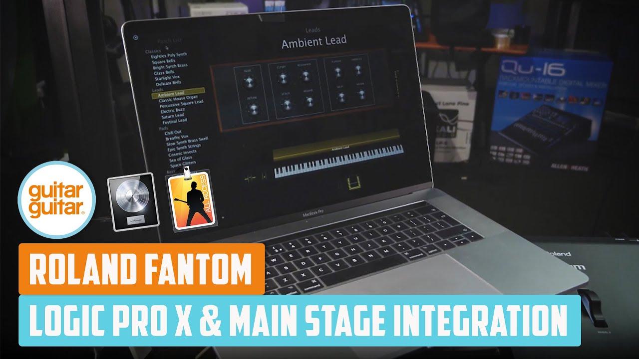 ROLAND Fantom   Logic Pro X & Main Stage Integration