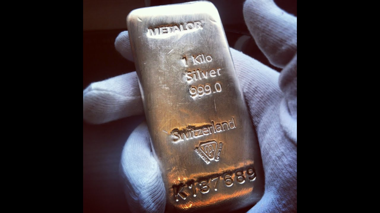 Silver Bar Metalor 1 Kg Kilo Silver Bar Youtube