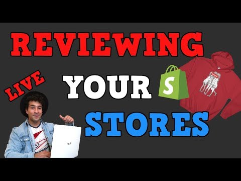REVIEWING YOUR SHOPIFY STORES LIVE