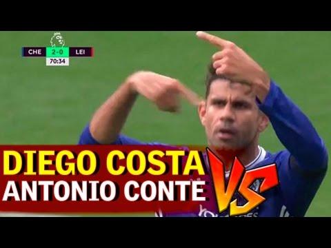 Diego Costa pidió el cambió y Conte no le hizo caso