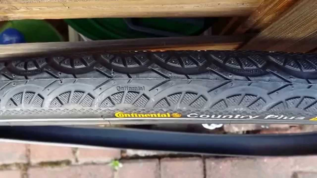 Continental Bicycle Tires >> Continental Country Plus, Puncture Belt, bicycle tires - YouTube