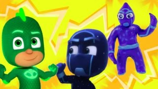Make Night Ninja from PJ Masks and he meet Gekko PLAY DOH / Лепим Герои в масках