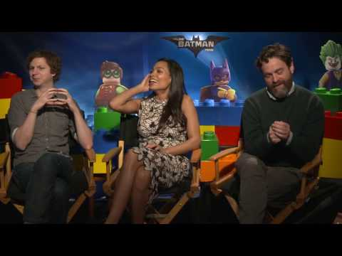 LEGO Batman Movie Interview - Michael Cera, Rosario Dawson & Zach Galifianakis
