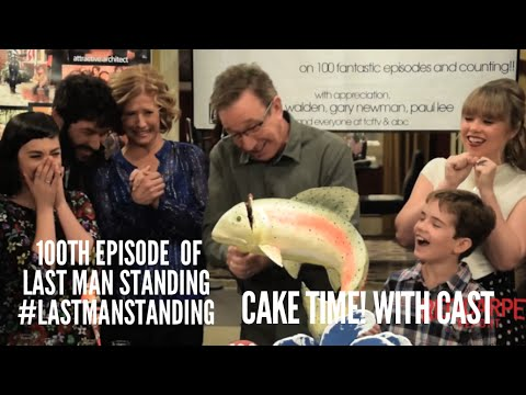 Cake Cutting with Cast & Creators of #LastManStanding for 100th Episode Celebration on Set