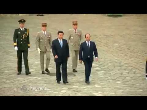 Paris welcomes China's President Xi Jinping with military honors