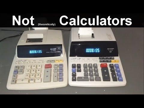 Sharp EL-1197P And EL-1197PIII Adding Machines