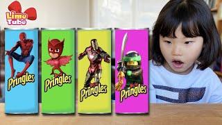 프링글스 슈퍼히어로 변신놀이! 스파이더맨 파자마삼총사 | 라임의 웃긴 영상모음 LimeTube