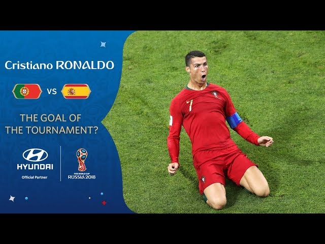 Cristiano RONALDO free-kick vs Spain   2018 FIFA World Cup   Hyundai Goal of the Tournament Nominee