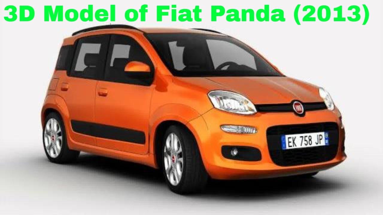3d model of fiat panda 2013 youtube. Black Bedroom Furniture Sets. Home Design Ideas