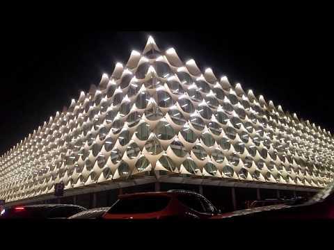 King Fahad National library Beautiful Night View -Riyadh (Saudi Arabia)