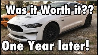 2018 Mustang GT ONE YEAR REVIEW!