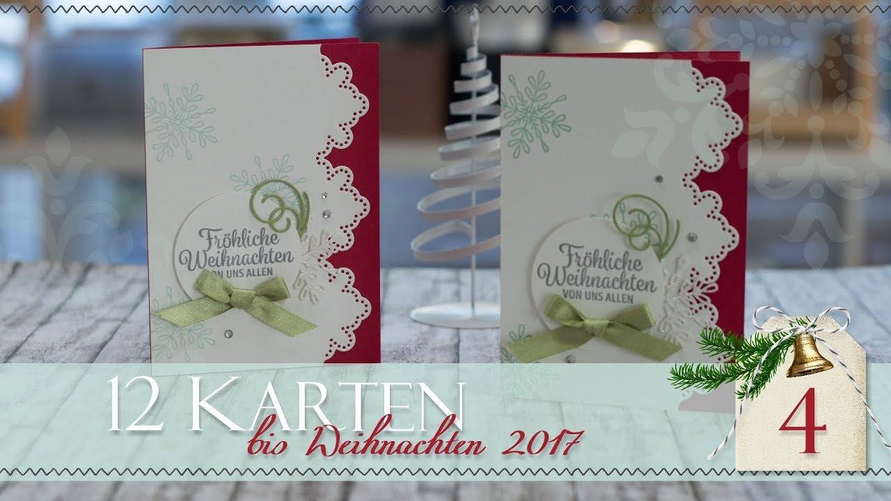 Außergewöhnlich Edle Weihnachtskarten Basteln Sammlung Von 12 Karten Bis Weihnachten 2017 | #4