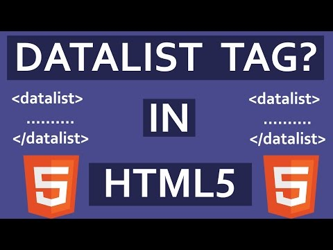 HTML5: - What Is Datalist Tag In HTML5? | Autocomplete Input Form Field Using Datalist tag