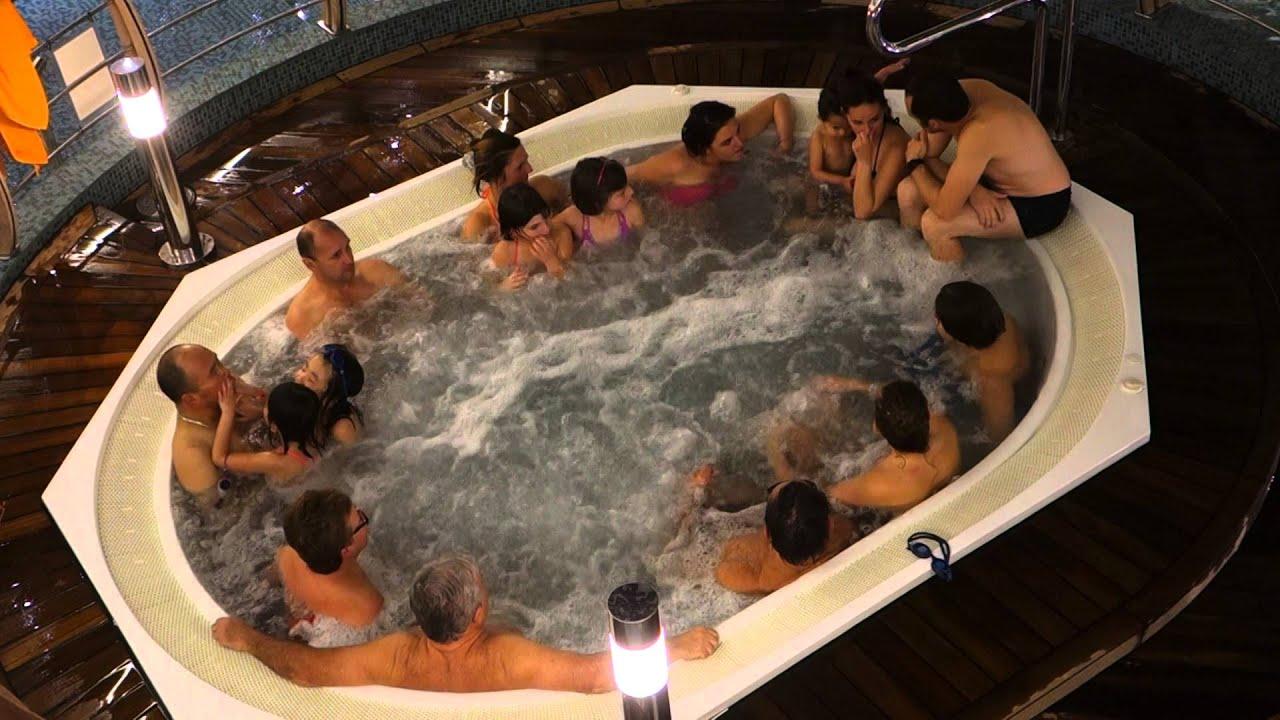 MSC Preziosa Hot Tubs can get Crowded Kids too! - YouTube