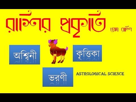 RASHIFAL রাশির প্রকৃতি Aries  (মেষ রাশি) Ashwini, Bharani & Krittika Nakshatra