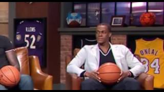 Rajon Rondo looks uncomfortable talking about Ray Allen