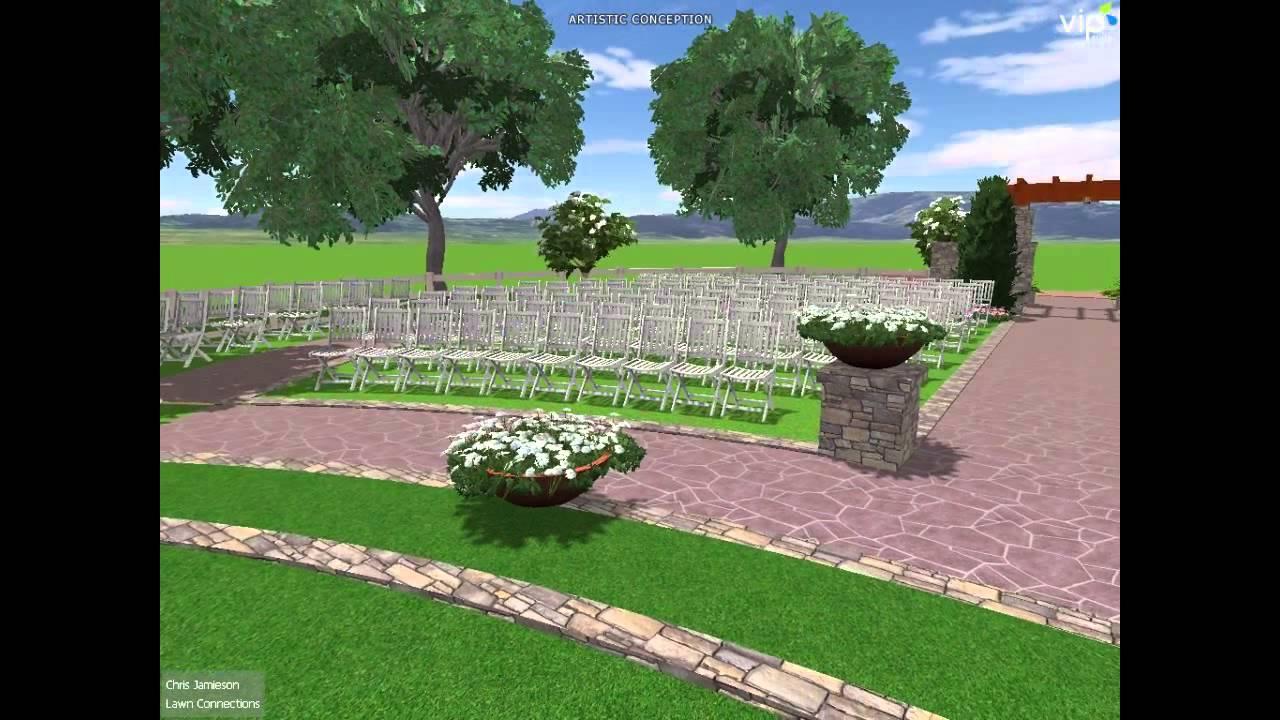 wedding venue landscape design