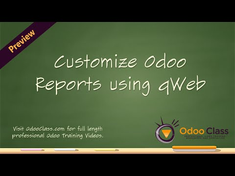 Customize Odoo Reports using qWeb - YouTube