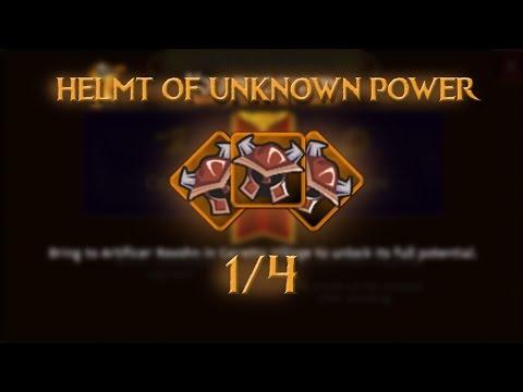 SET MYTHIC//HELMT OF UNKNOWN POWER 1/4 //ARCANE LEGENDS