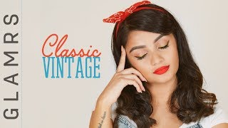The PIN UP Girl Makeup Look - Classic Vintage (1980's) Makeup Tutorial | Glamrs