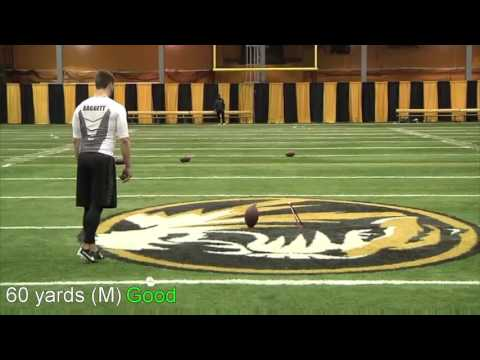 Andrew Baggett- Mizzou Kicker Pro Day Highlights 2016