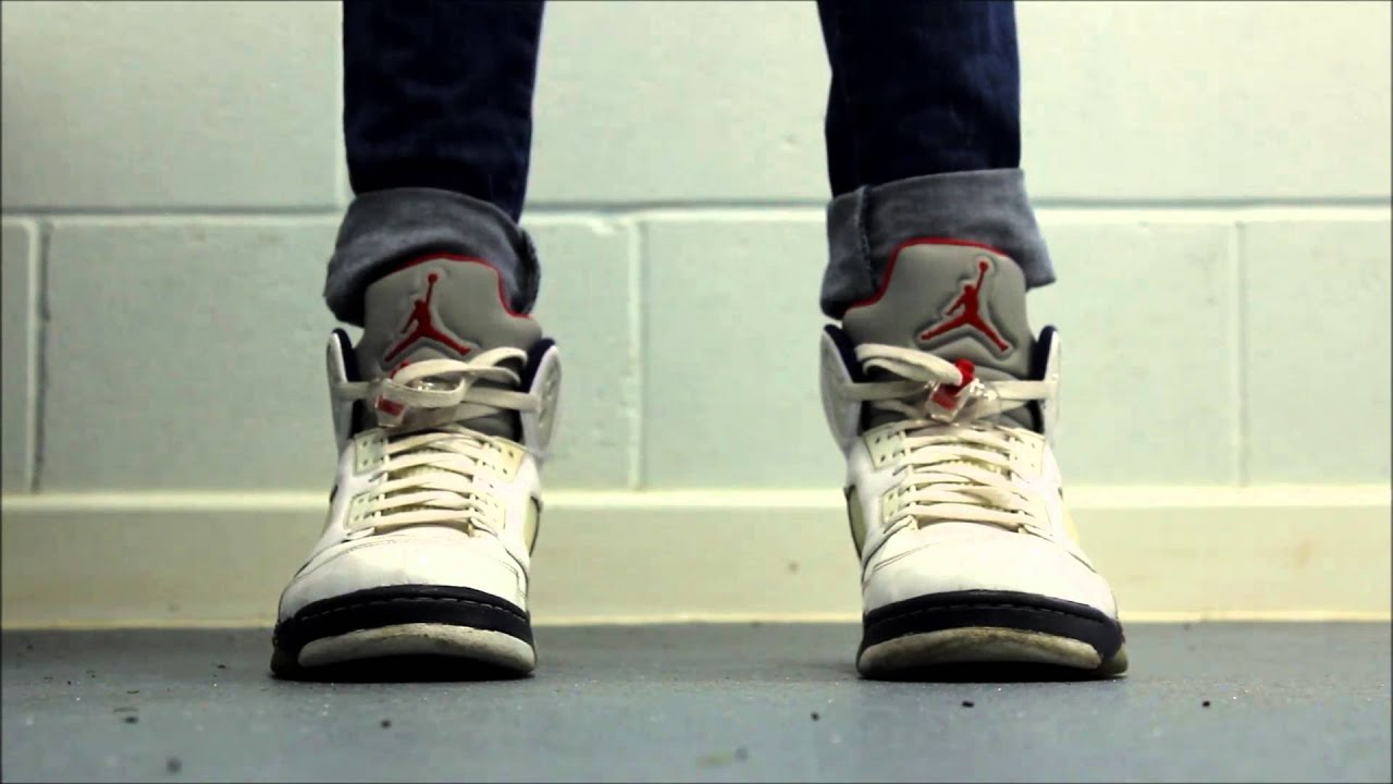 3b9dd41bacc Air Jordan 5 Independence Day On Feet + GIVEAWAY In Description ...