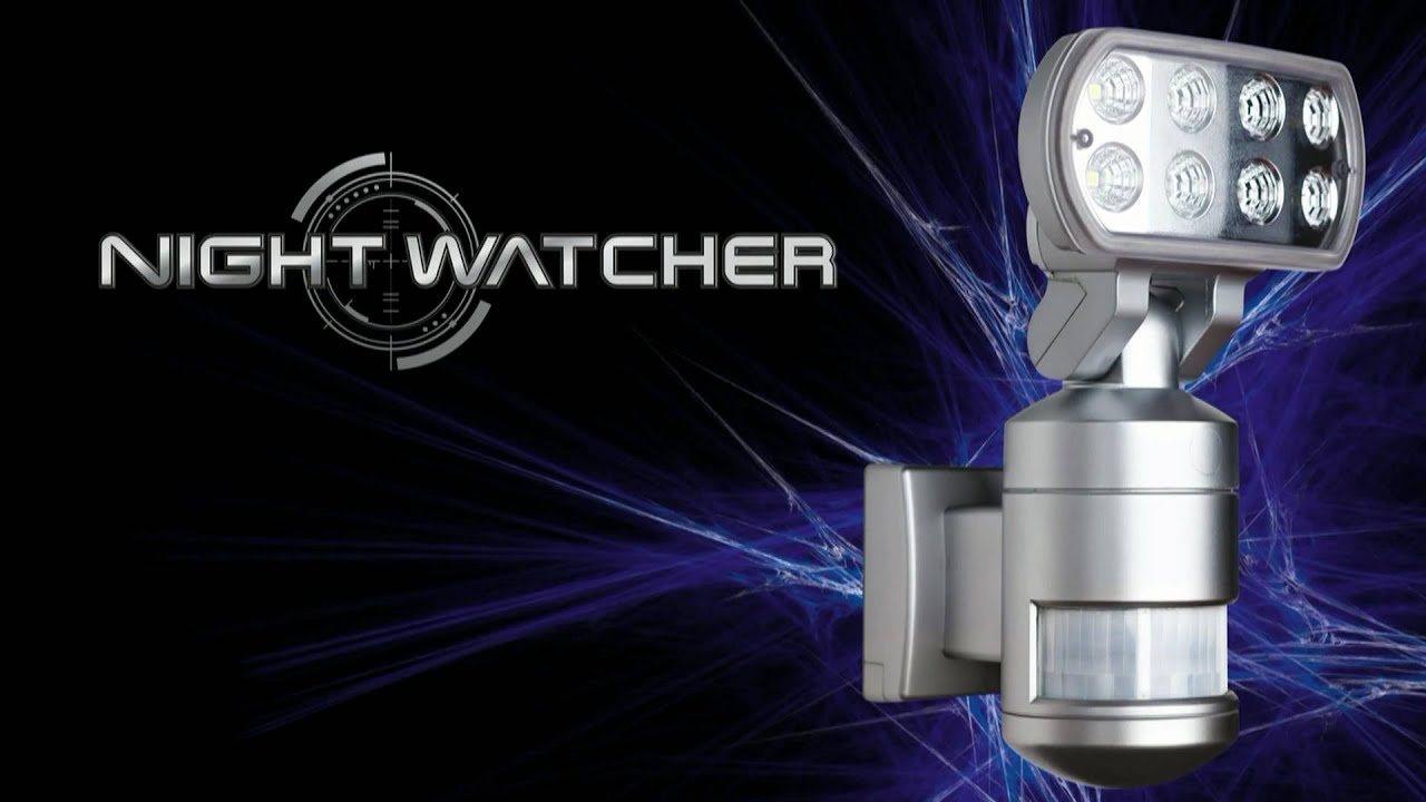 nightwatcher the worlds first robotic security light www rh youtube com night light security systems night light security camera