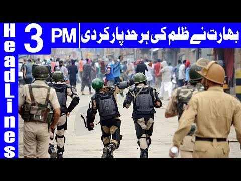 India Using Chemical Weapons in Kashmir | Headlines 3 PM | 4 October 2018 | Dunya News