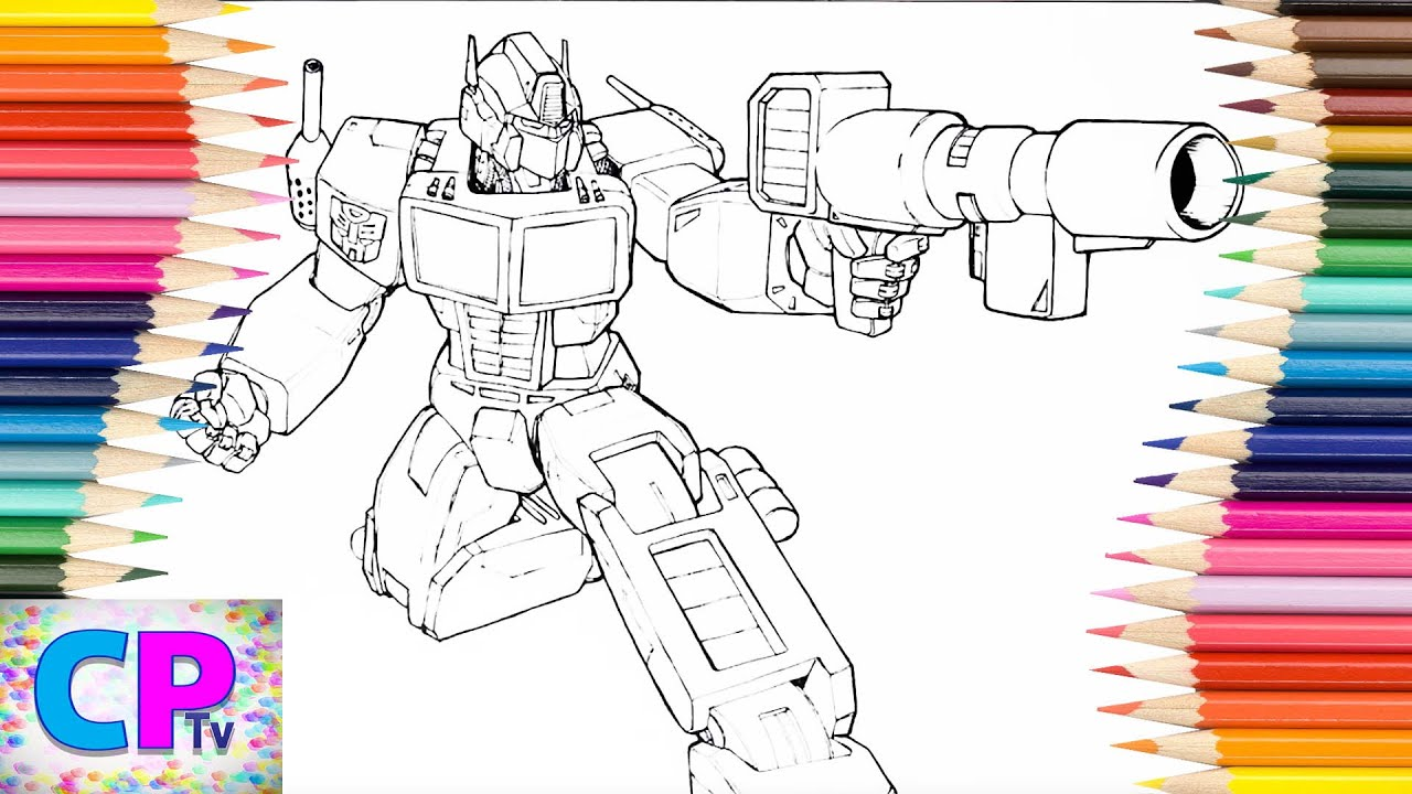Transformers Coloring Pages For Kids How To Color Transformers
