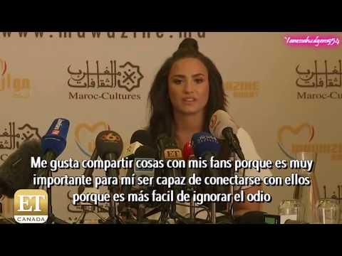 Demi hablando de su proximo  Subtitulado en español